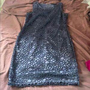 Banana Republic size 4 blue lace dress zipper back